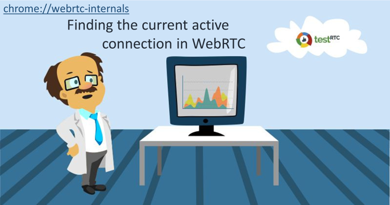 How do you find the current active connection in webrtc